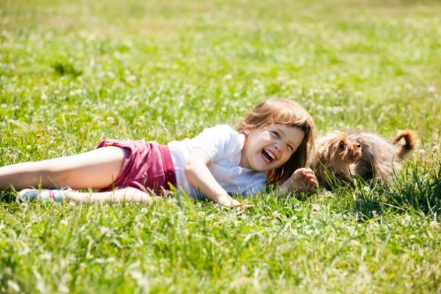 happy-child-playing-with-puppy-at-meadow-in-summer_1398–64